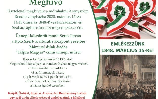 MEGHÍVÓ 2020. március 15.